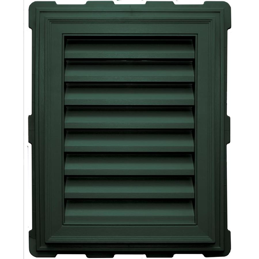 Builders Edge 18-in x 24-in Forest Green Rectangle Vinyl Gable Vent