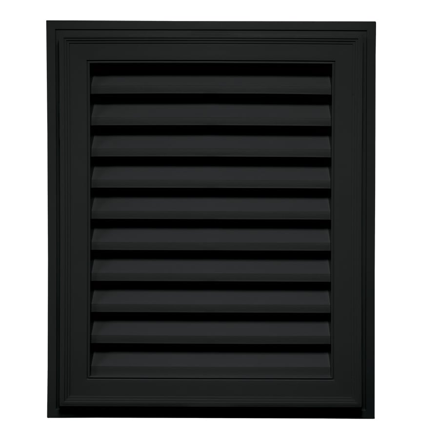 Builders Edge 30-in x 20-in Black Rectangle Vinyl Gable Vent