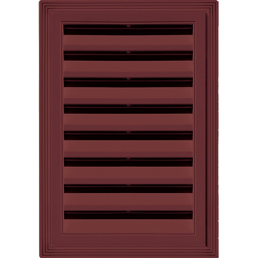 Builders Edge 20-in x 14-in Wineberry Rectangle Vinyl Gable Vent