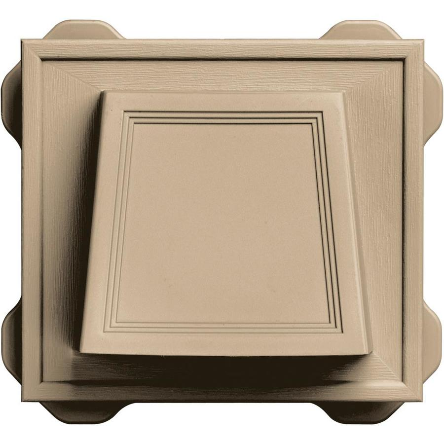 Builders Edge 6.6875-in x 7.375-in Tan Vinyl Plumbing/Hose Mounting Block