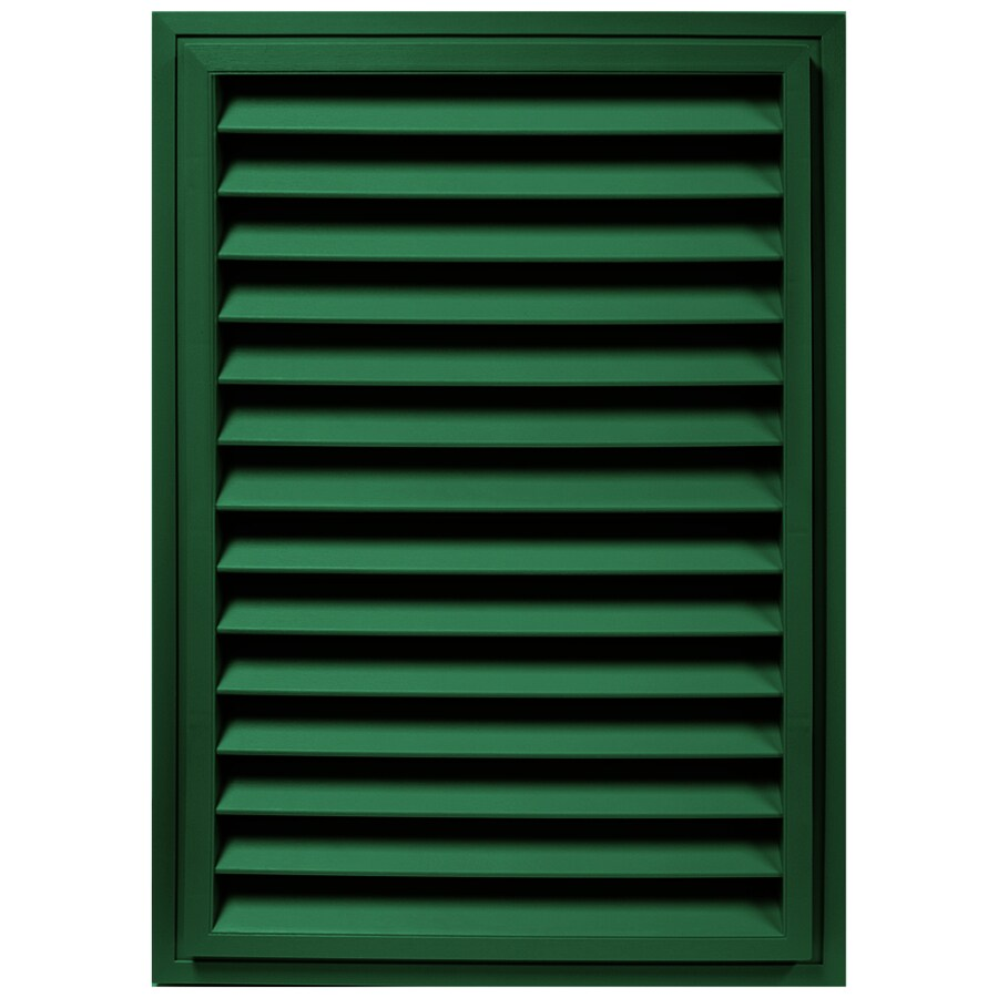 Builders Edge 32.625-in x 22.625-in Forest Green Rectangle Vinyl Gable Vent