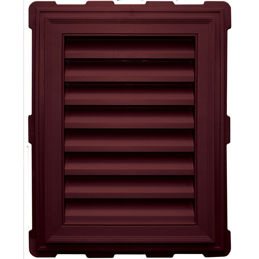 Builders Edge 18-in x 24-in Wineberry Rectangle Vinyl Gable Vent