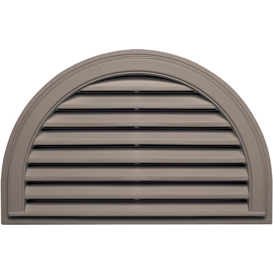 Builders Edge 34.2-in x 22.1-in Clay Half Round Vinyl Gable Vent