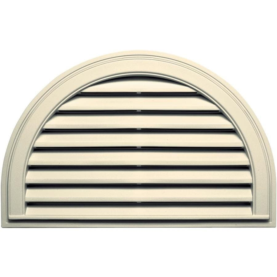 Builders Edge 34.2-in x 22.1-in Heritage Cream Half Round Vinyl Gable Vent
