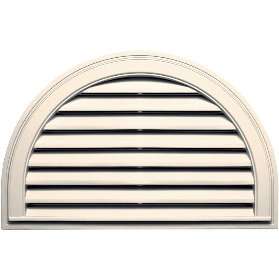 Builders Edge 34.2-in x 22.1-in Sandstone Beige Half Round Vinyl Gable Vent