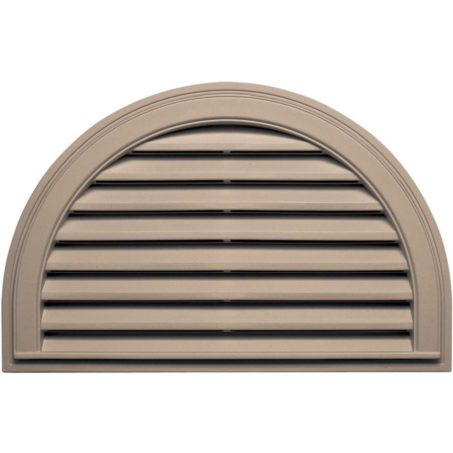 Builders Edge 34.2-in x 22.1-in Wicker Half Round Vinyl Gable Vent