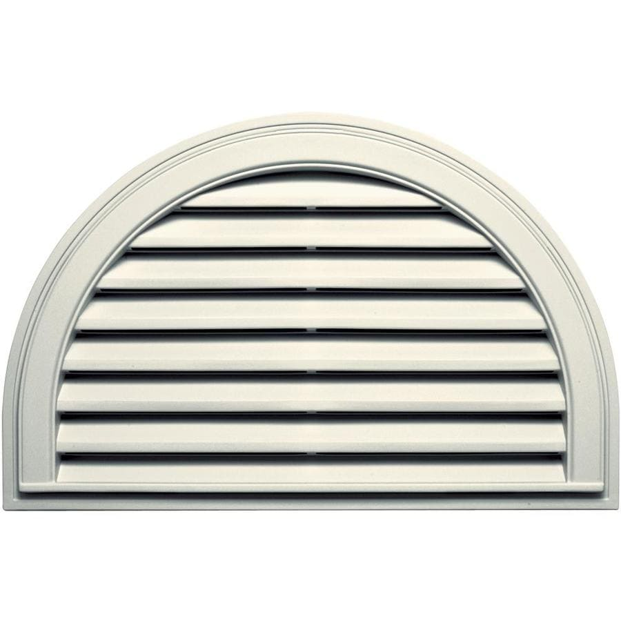 Builders Edge 10-in x 10-in Parchment Half Round Vinyl Gable Vent