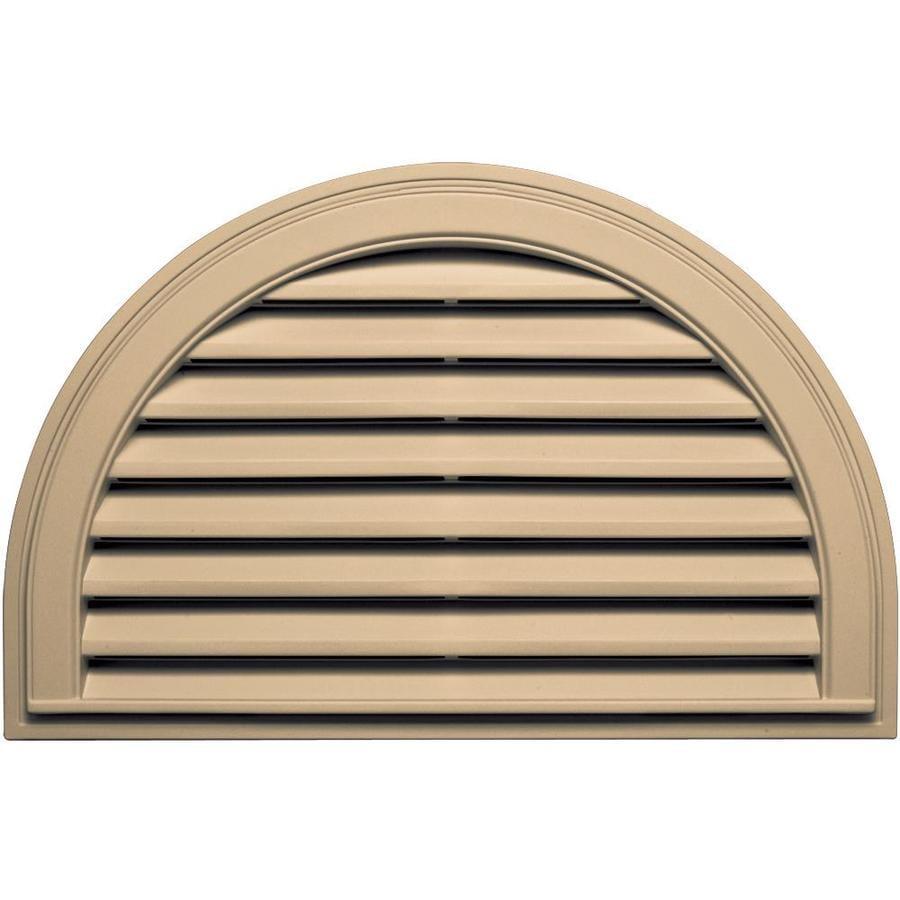 Builders Edge 34.2-in x 22.1-in Sandstone Maple Half Round Vinyl Gable Vent