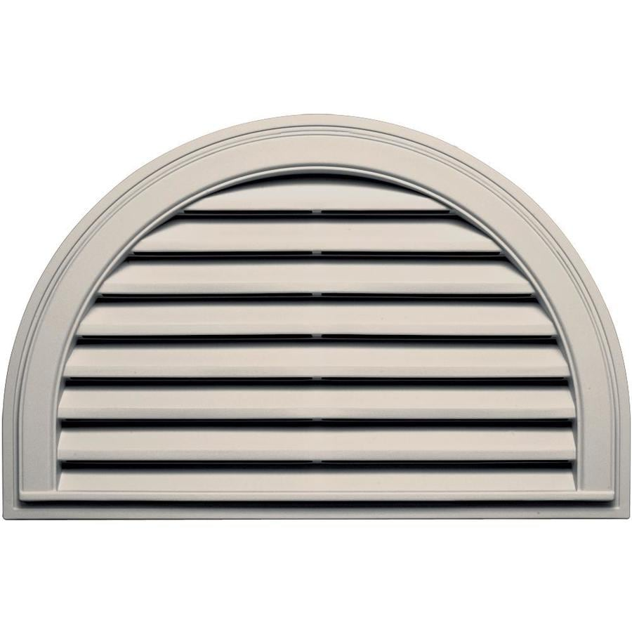 Builders Edge 10-in x 10-in Almond Half Round Vinyl Gable Vent