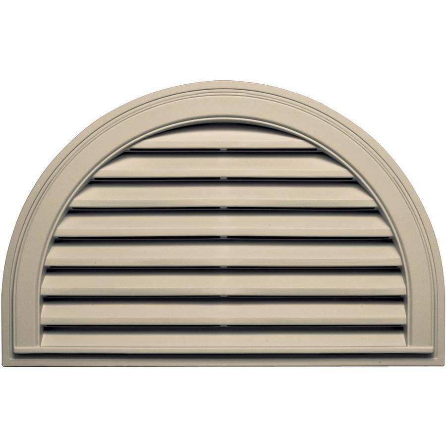 Builders Edge 34.2-in x 22.1-in Almond Half Round Vinyl Gable Vent