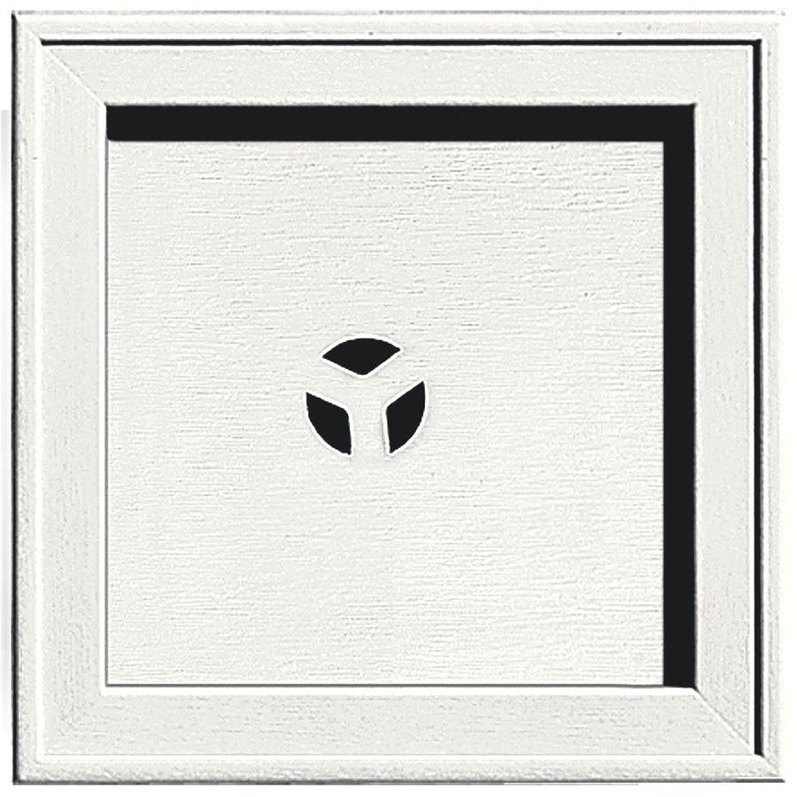Builders Edge 7.75-in x 7.75-in White Vinyl Universal Mounting Block