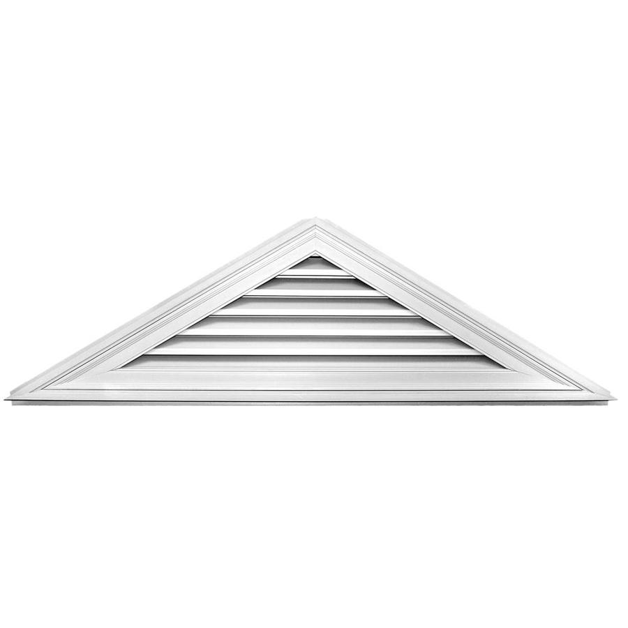 Builders Edge 70.5-in x 20.5-in White Triangle Vinyl Gable Vent