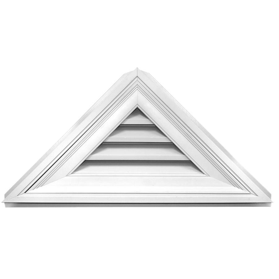 Builders Edge 5-in x 4-in White Triangle Vinyl Gable Vent