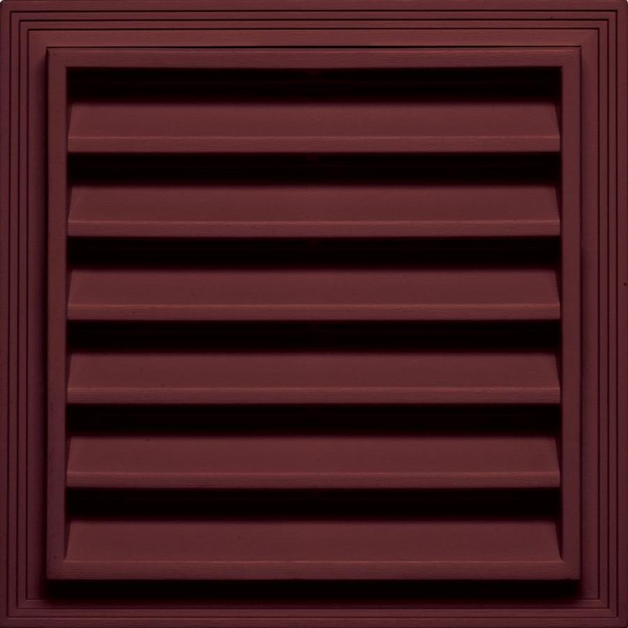 Builders Edge 7-in x 7-in Wineberry Square Vinyl Gable Vent