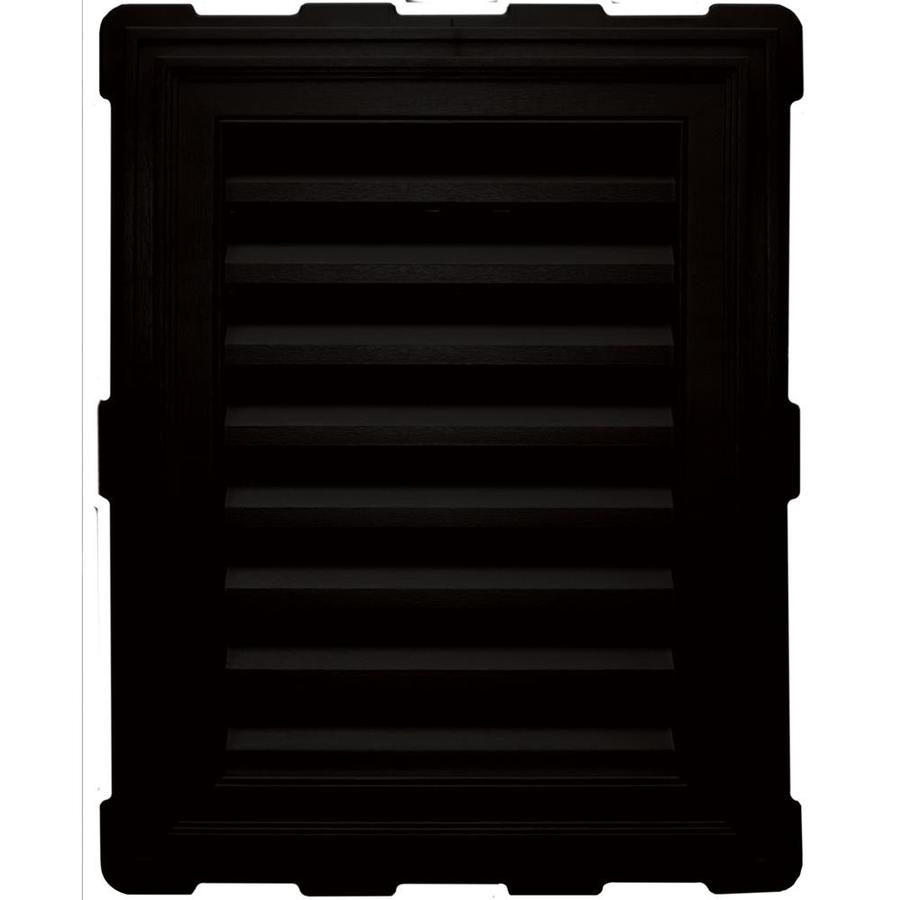 Builders Edge 20.2-in x 26.2-in Black Rectangle Vinyl Gable Vent