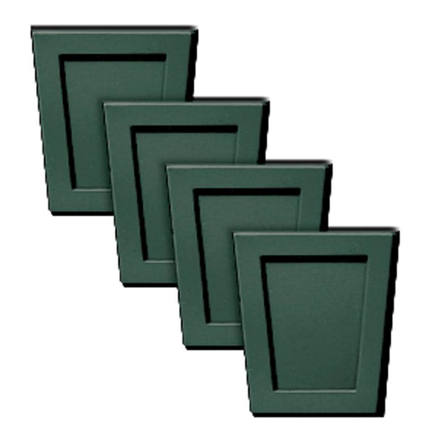 Builders Edge 4-Pack 4-in x 4.5-in Forest Green Polypropylene Gable Vent Keystones