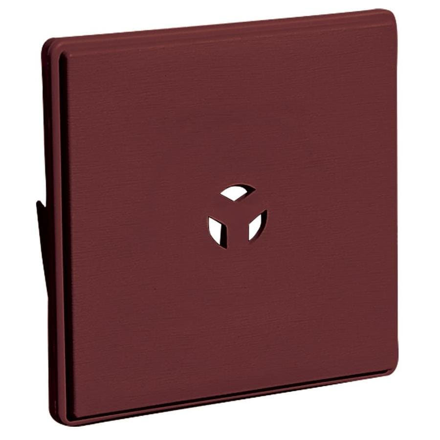 Builders Edge 6.625-in x 6.625-in Wineberry Vinyl Universal Mounting Block