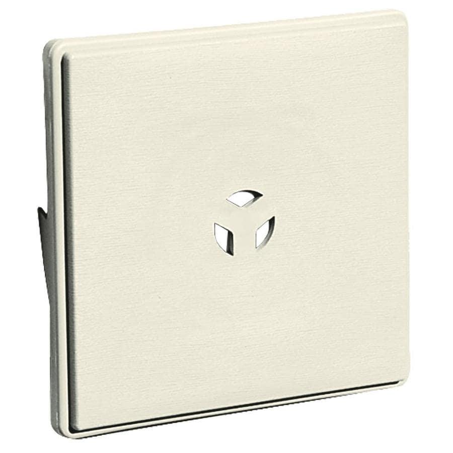 Builders Edge 6.625-in x 6.625-in Linen Vinyl Universal Mounting Block