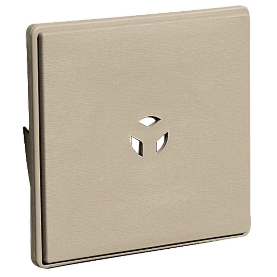Builders Edge 6.625-in x 6.625-in Clay Vinyl Universal Mounting Block
