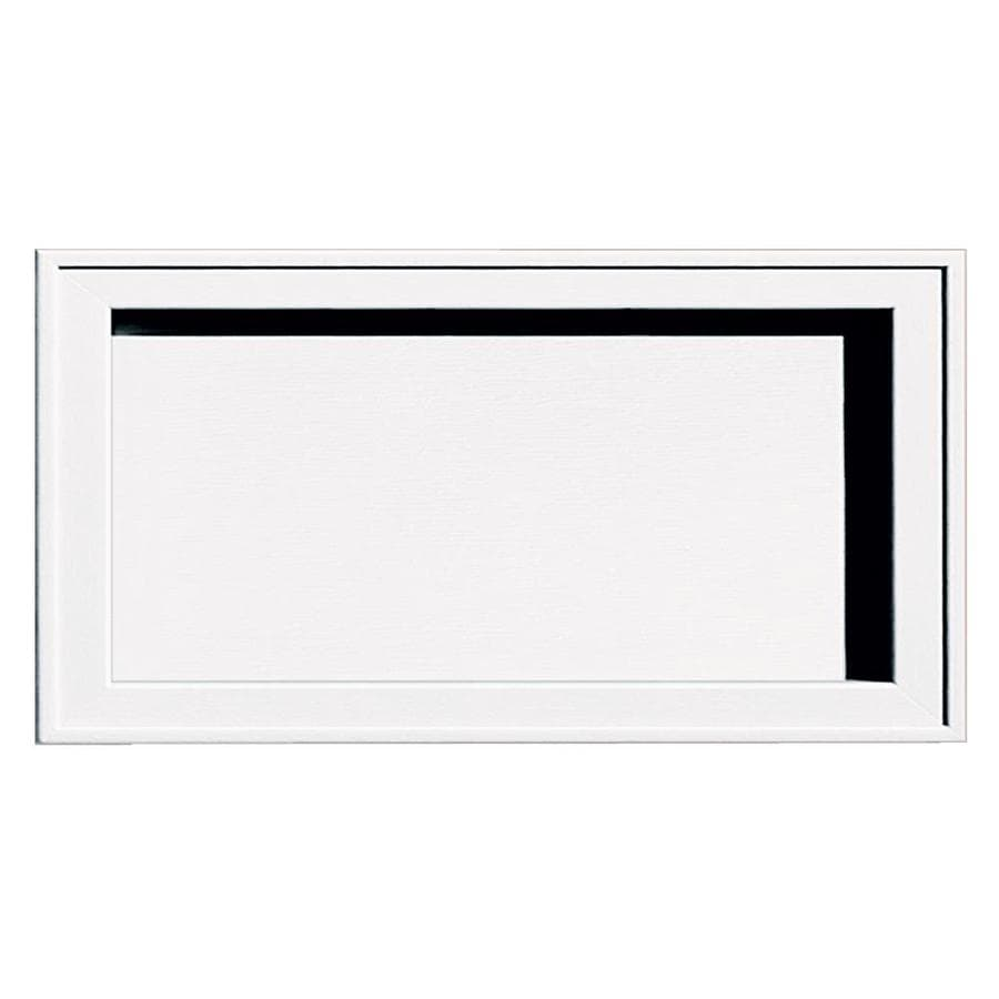 Builders Edge 7.5-in x 14.25-in White Vinyl Universal Mounting Block
