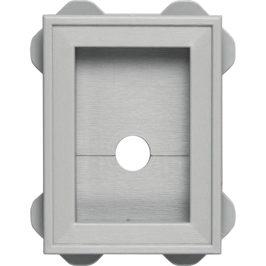 Builders Edge 5-in x 6.75-in Paintable Vinyl Universal Mounting Block