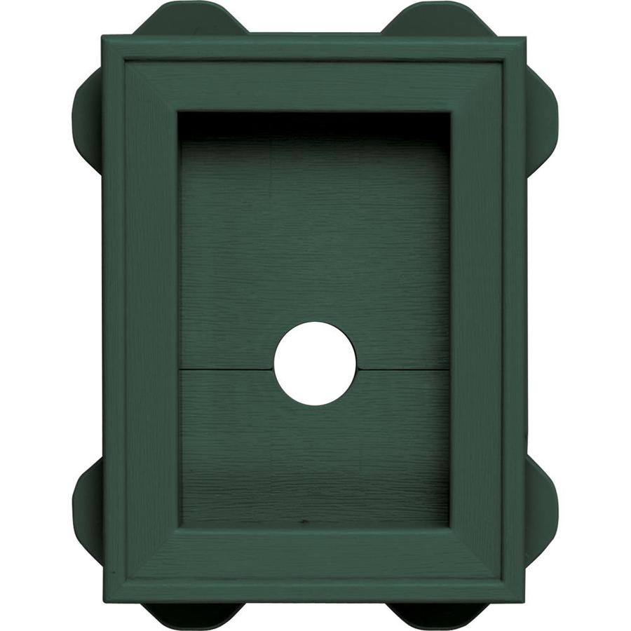 Builders Edge 5-in x 6.75-in Forest Green Vinyl Universal Mounting Block