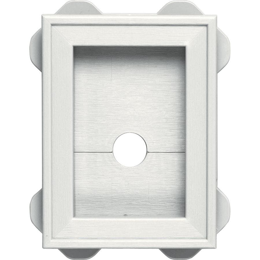 Builders Edge 5-in x 6.75-in White Vinyl Universal Mounting Block