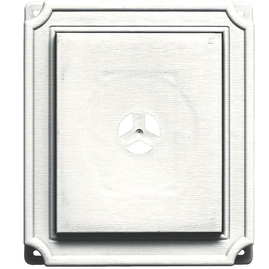 Builders Edge 7 In X 8 In White Vinyl Universal Mounting