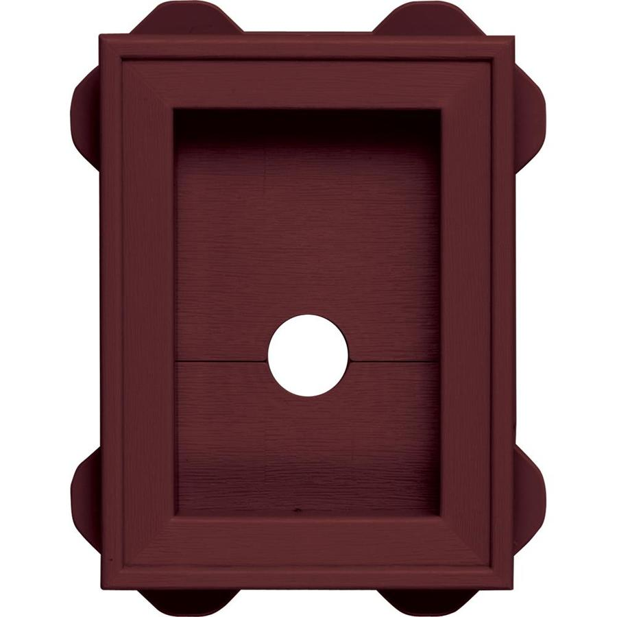 Builders Edge 5-in x 6.75-in Wineberry Vinyl Universal Mounting Block