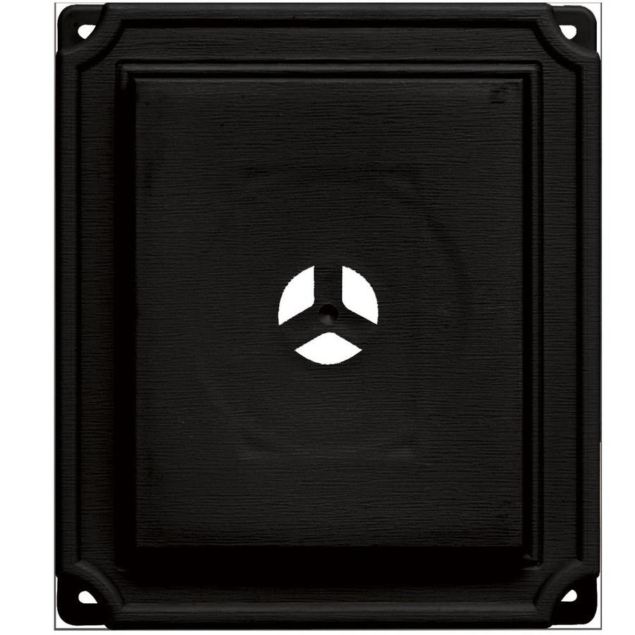Builders Edge 7-in x 8-in Black Vinyl Universal Mounting Block