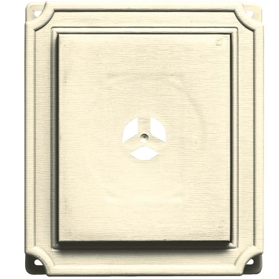 Builders Edge 7-in x 8-in Heritage Cream Vinyl Universal Mounting Block