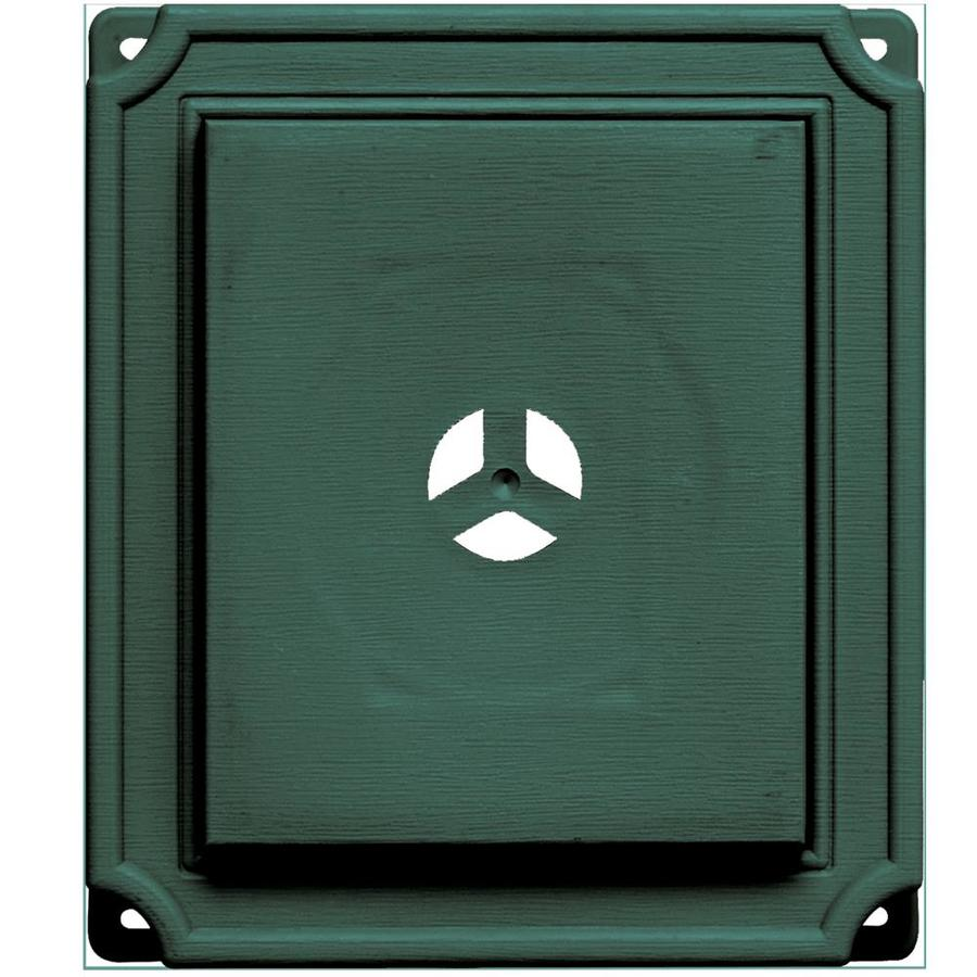 Builders Edge 7-in x 8-in Forest Green Vinyl Universal Mounting Block