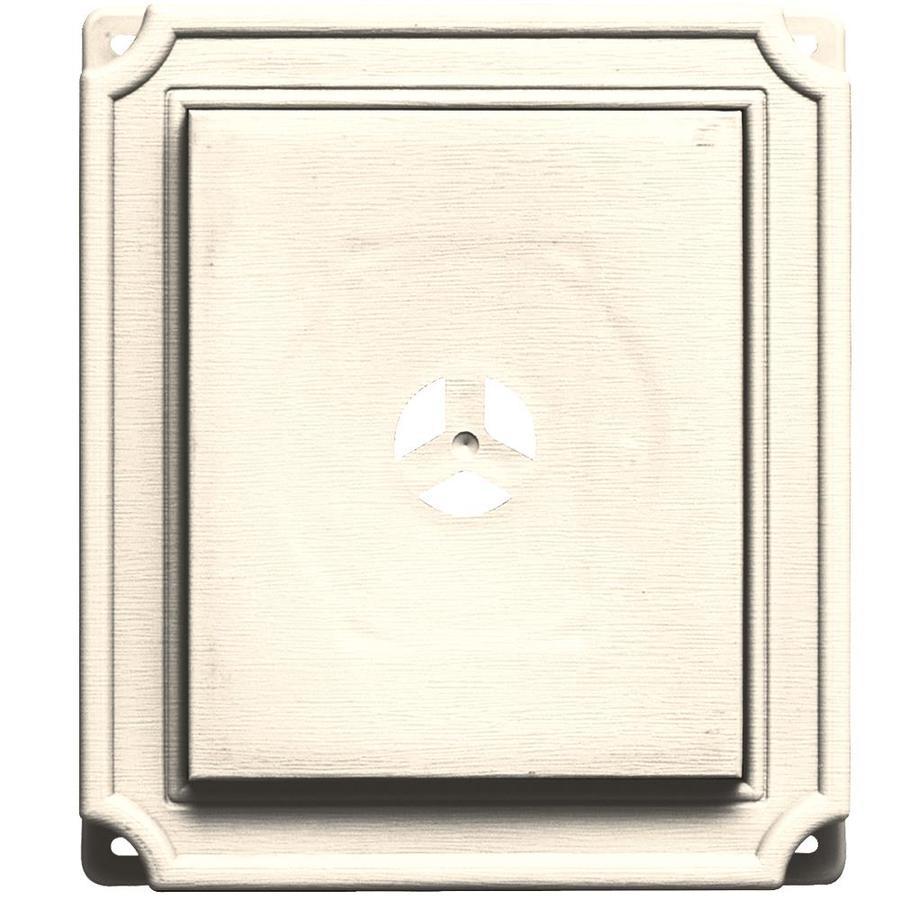 Builders Edge 7-in x 8-in Sandstone Beige Vinyl Universal Mounting Block