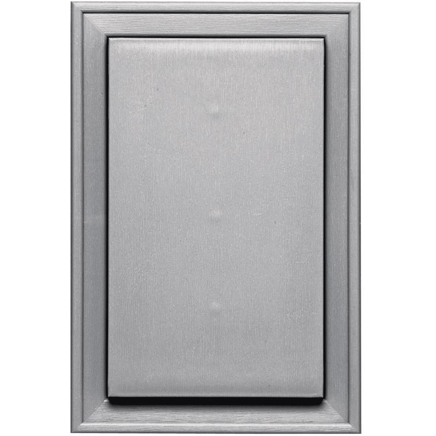 Builders Edge 8-in x 12-in Gray Vinyl Universal Mounting Block