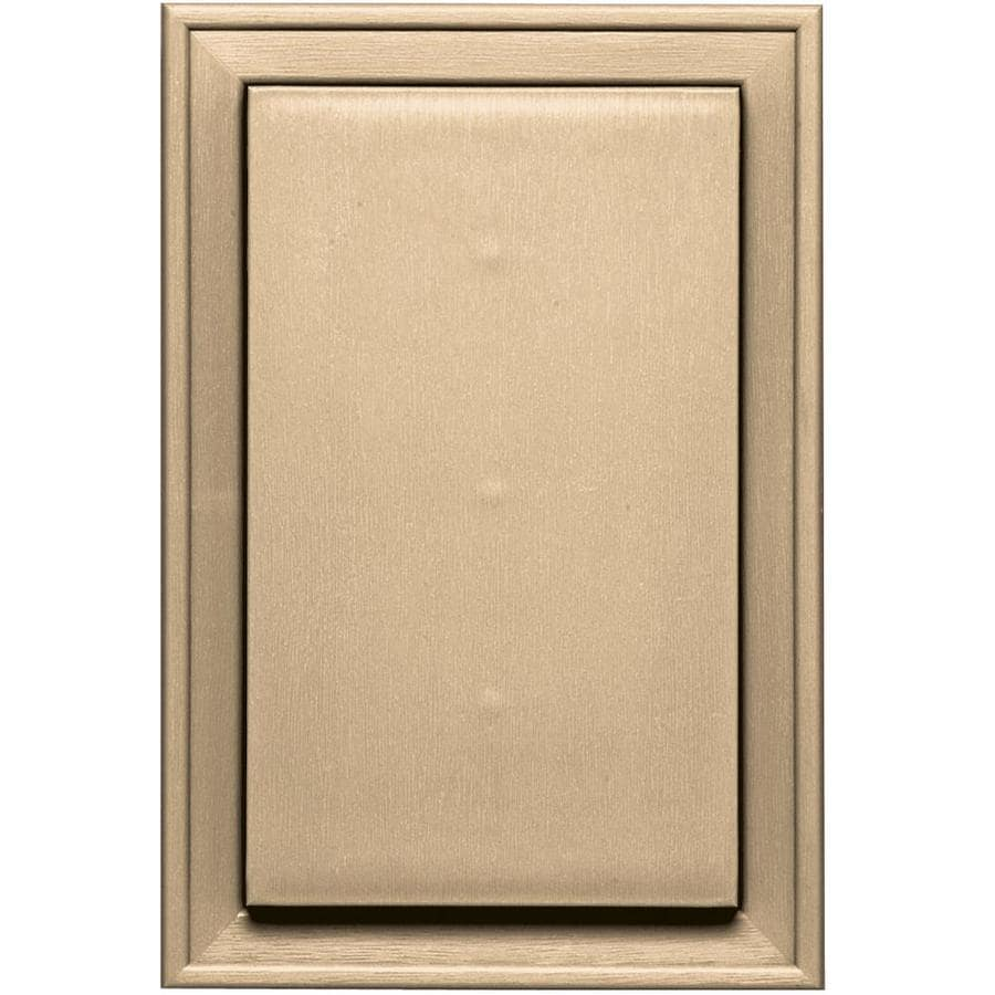 Builders Edge 8-in x 12-in Sandstone Maple Vinyl Universal Mounting Block