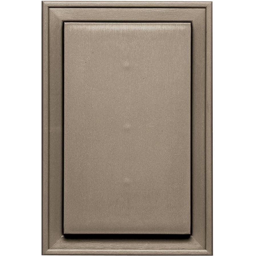 Builders Edge 8-in x 12-in Clay Vinyl Universal Mounting Block