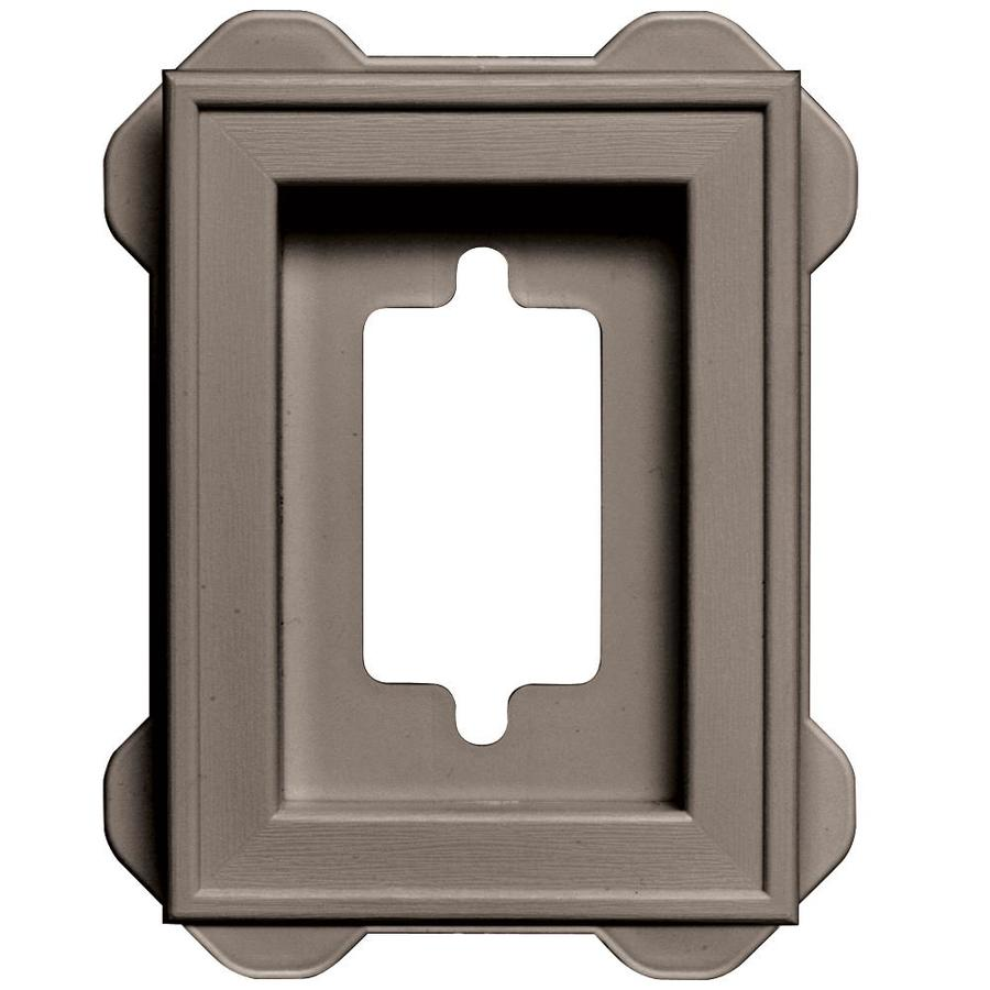 Builders Edge 5-in x 6.25-in Clay Vinyl Universal Mounting Block