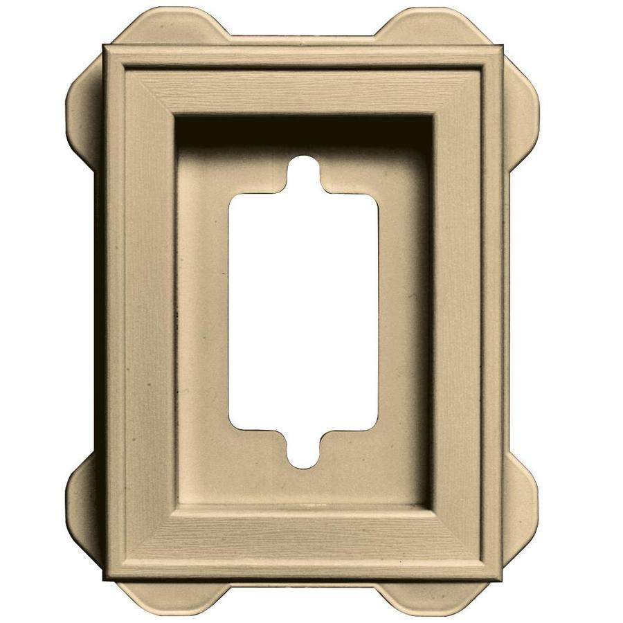 Builders Edge 5-in x 6.25-in Dark Almond Vinyl Universal Mounting Block