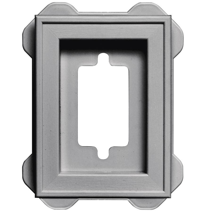 Builders Edge 5-in x 6.25-in Gray Vinyl Universal Mounting Block