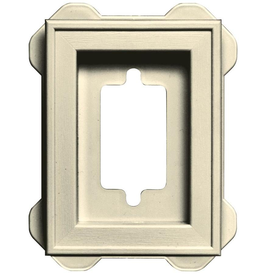 Builders Edge 5-in x 6.25-in Heritage Cream Vinyl Universal Mounting Block