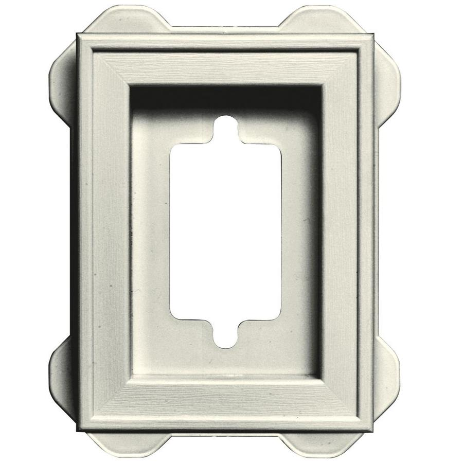Builders Edge 5-in x 6.25-in Parchment Vinyl Universal Mounting Block