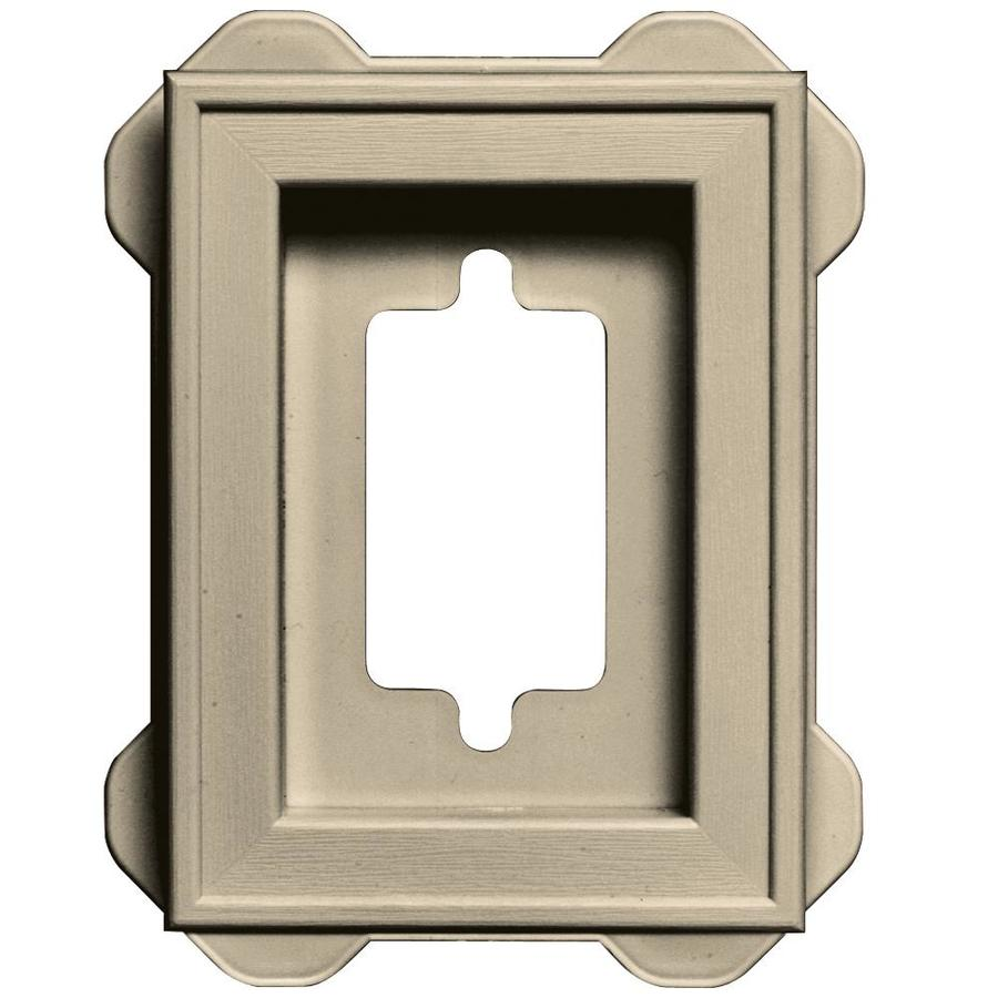 Builders Edge 5-in x 6.25-in Almond Vinyl Universal Mounting Block