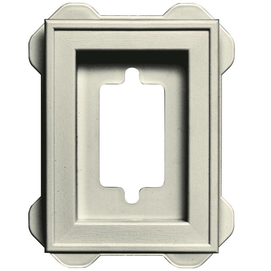 Builders Edge 5-in x 6.25-in Linen Vinyl Universal Mounting Block