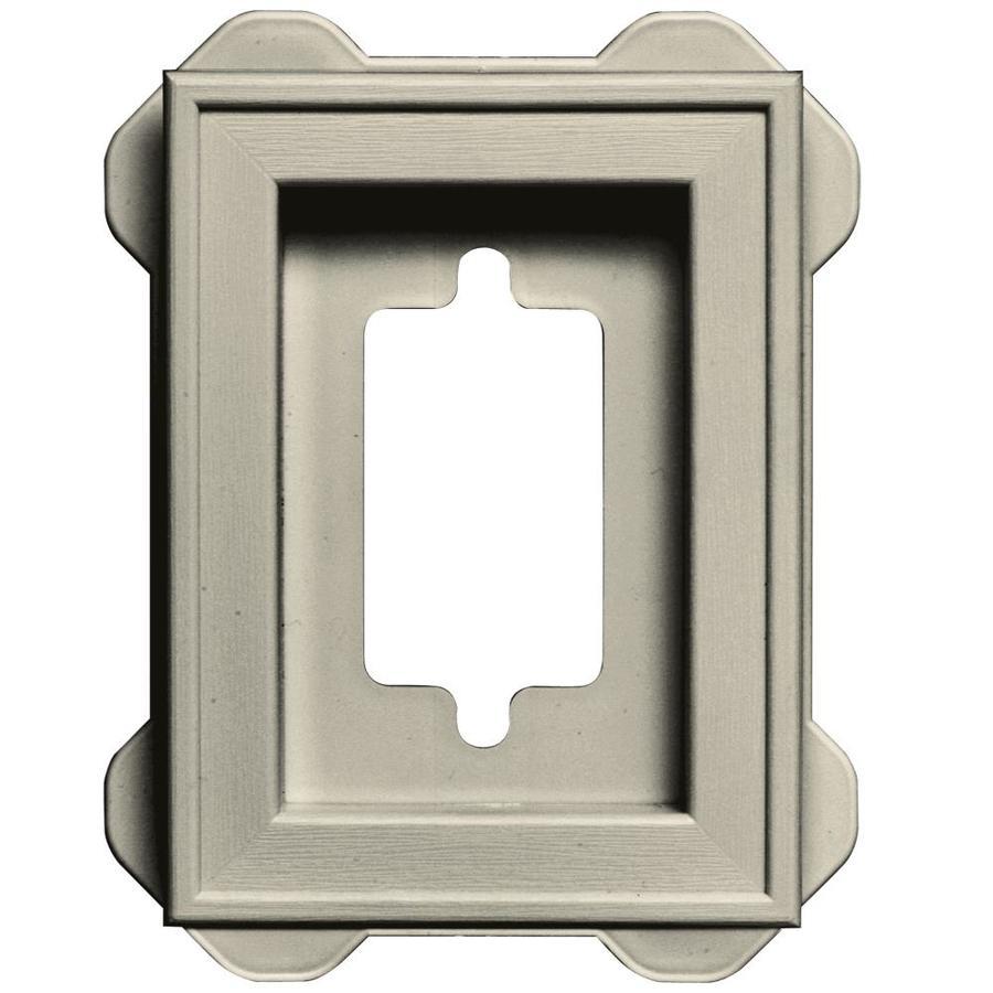 Builders Edge 5-in x 6.25-in Champagne Vinyl Universal Mounting Block