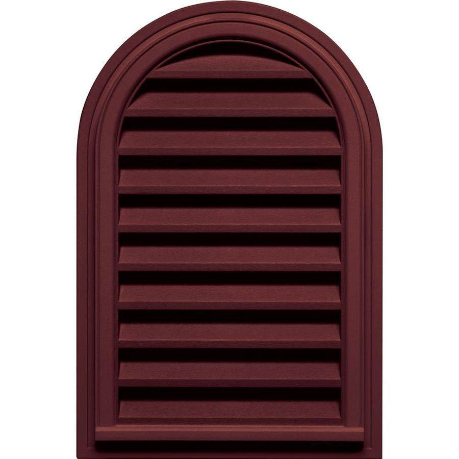 Builders Edge 22 In X 32 In Wineberry Round Top Vinyl