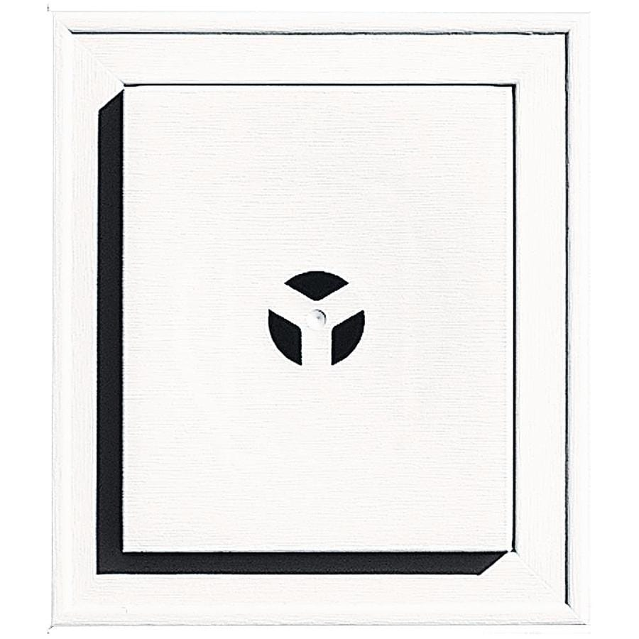 Builders Edge 7-in x 8-in Bright White Vinyl Universal Mounting Block