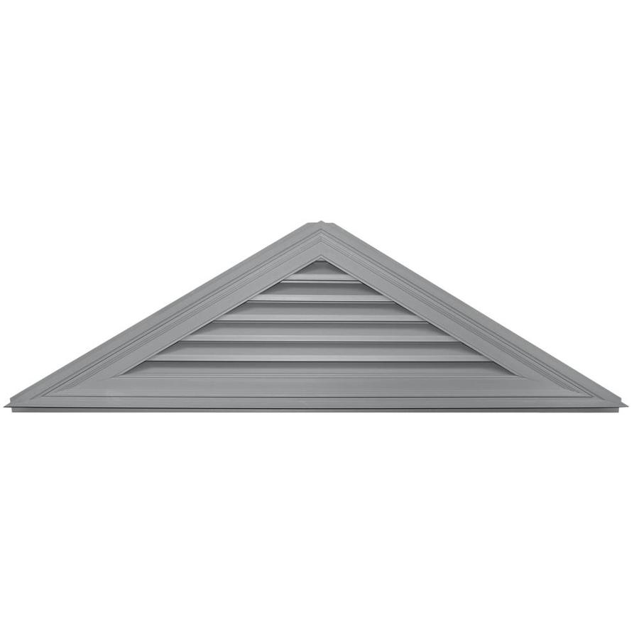 Builders Edge 70.5-in x 20.5-in Paintable Triangle Vinyl Gable Vent