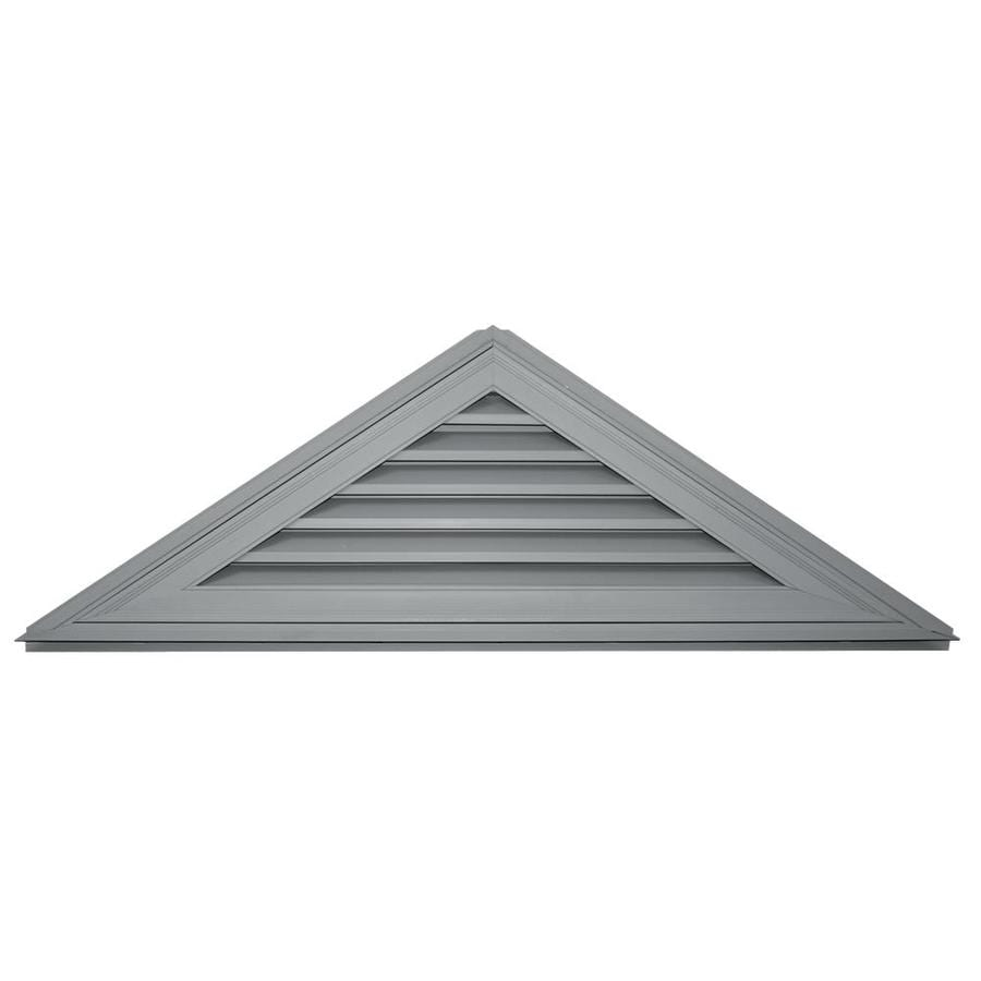 Builders Edge 62-in x 20-in Paintable Triangle Vinyl Gable Vent