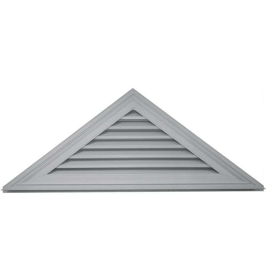 Builders Edge 61.8-in x 23.1-in Paintable Triangle Vinyl Gable Vent