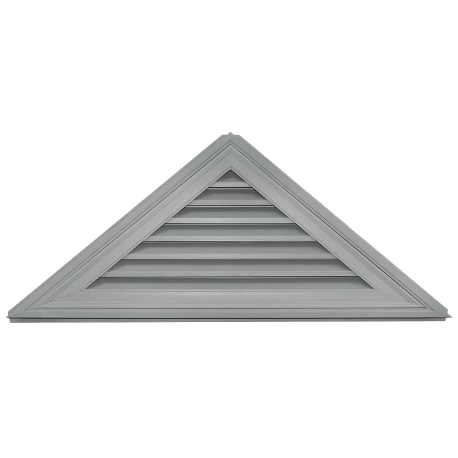 Builders Edge 56-in x 23.4-in Paintable Triangle Vinyl Gable Vent
